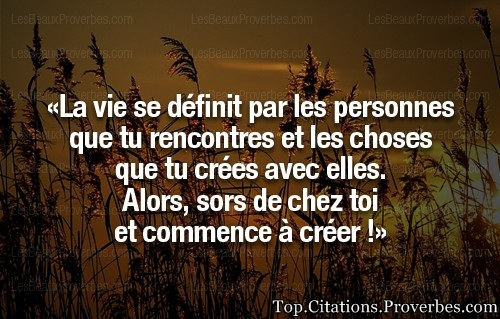 On rencontre des personnes citations