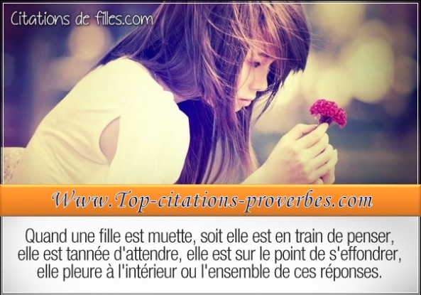 Le genre de fille - Citations de filles Citations d