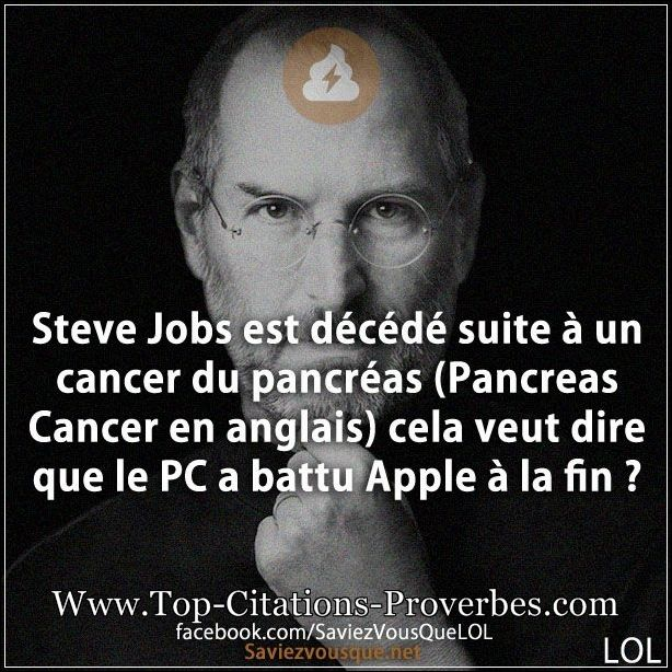 blague cancer steve jobs est d233c233d233 suite 224 un cancer du