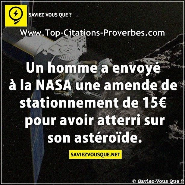 un homme a envoy la nasa une amende de stationnement de 15 pour avoir atterri sur son ast ro de. Black Bedroom Furniture Sets. Home Design Ideas