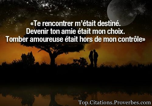 Rencontrer amour citation