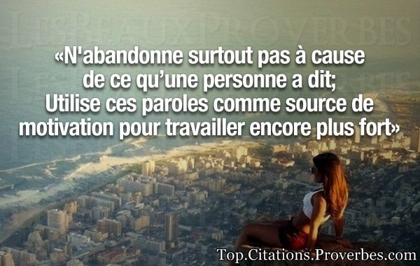 Utilise ces paroles comme source de motivation po…