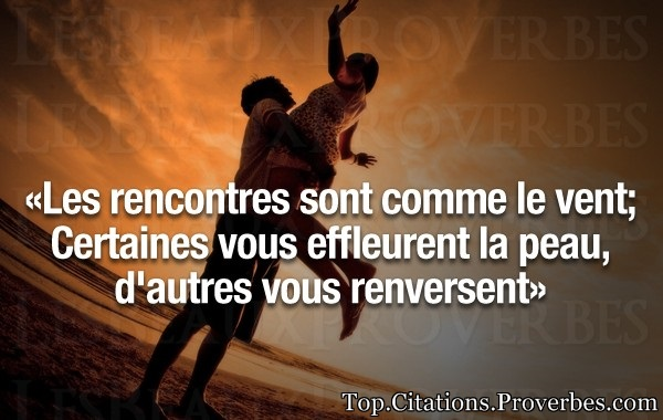 Citations rencontres inattendues