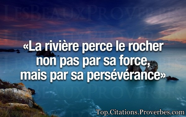 Citation Courte La Riviere Perce Le Rocher Non Pas Par Sa Force
