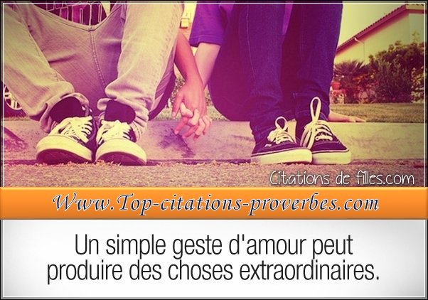 Un simple geste d'amour peut produire des choses e…