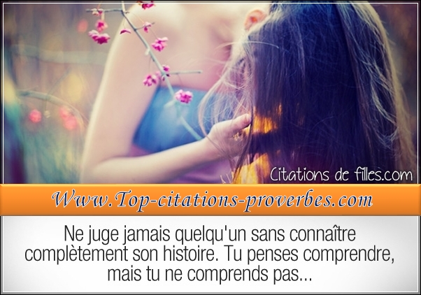 Tu penses comprendre, mais tu ne comprends pas……