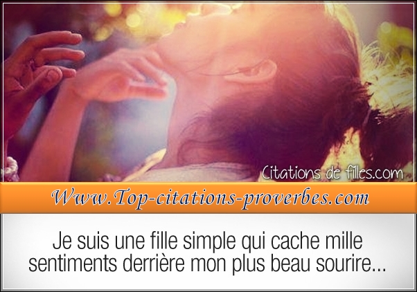 Je suis une fille simple qui cache mille sentiment…