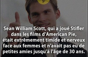 Citation amitié : Sean William Scott, qui a joué Stifler dans les films d'American Pie, était extrêm...