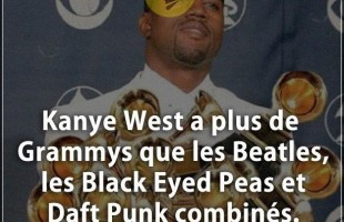 Citation courte : Kanye West a plus de Grammys que les Beatles, les Black Eyed Peas et Daft Punk com...