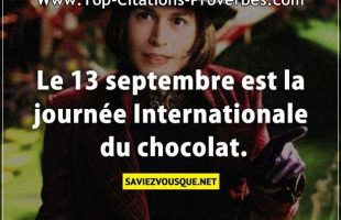 Le 13 septembre est la journée Internationale du chocolat.