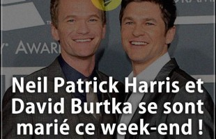 Citation courte : Neil Patrick Harris et David Burtka se sont marié ce week-end !