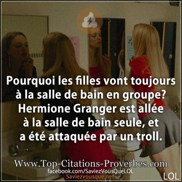 Blague fille archives page 2 sur 3 top citations proverbes for Citation salle de bain