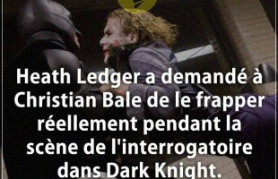 Citation en image : Heath Ledger a demandé à Christian Bale de le frapper réellement pendant la scèn...