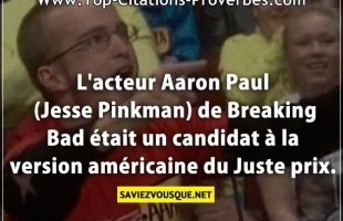 L'acteur Aaron Paul (Jesse Pinkman) de Breaking Bad était un candidat à la version américaine du Jus...