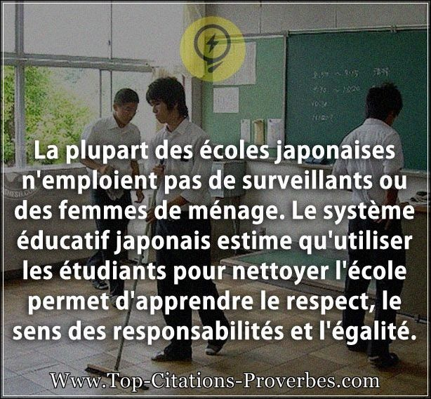 citation apprendre la plupart des coles japonaises n emploient pas de surveillants ou des. Black Bedroom Furniture Sets. Home Design Ideas