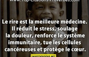 Le rire est la meilleure médecine. Il réduit le stress, soulage la douleur, renforce le système immu...