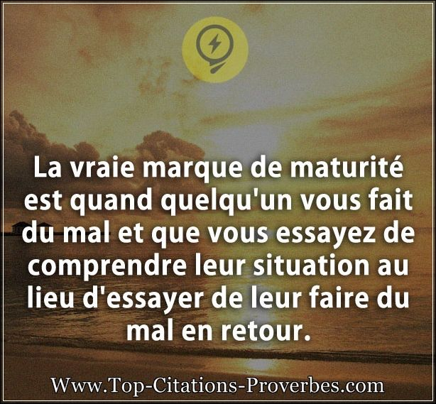 citations de maturité