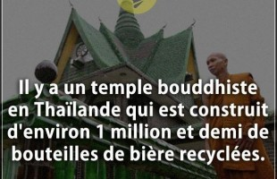 Citation cons : Il y a un temple bouddhiste en Thaïlande qui est construit d'environ 1 million et de...