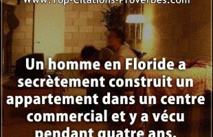 Citation cons : Un homme en Floride a secrètement construit un appartement dans un centre commercial...