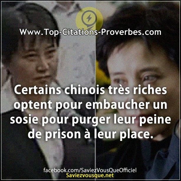 citation peine certains chinois tr s riches optent pour embaucher un sosie pour purger leur. Black Bedroom Furniture Sets. Home Design Ideas